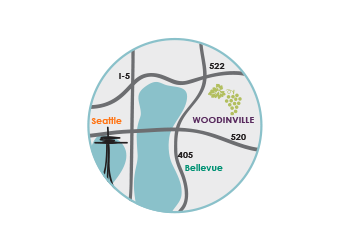 Celeberate Woodinville Map